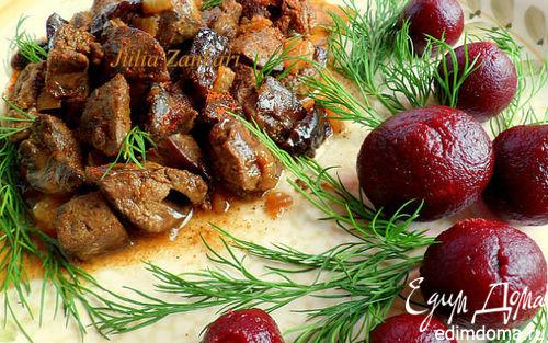 Блюда из куриной печени - рецепты с фото