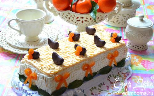 Рецепт Тирамису с мандариново-сливочным муссом и шоколадом + мандаринки в шоколаде