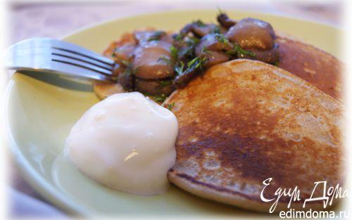 Рецепт Гречневые мини-блины с грибами