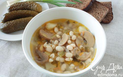 Рецепт Рассольник с фасолью и грибами