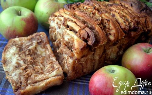 Рецепт Яблочная гармошка с корицей и какао