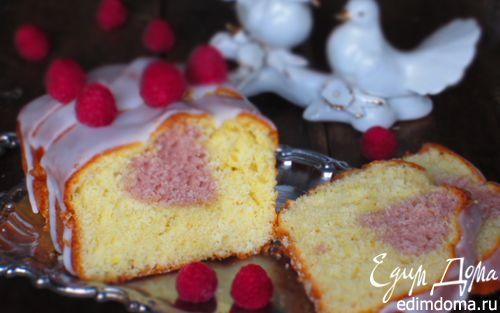 Рецепт Кекс с малиновым сердечком
