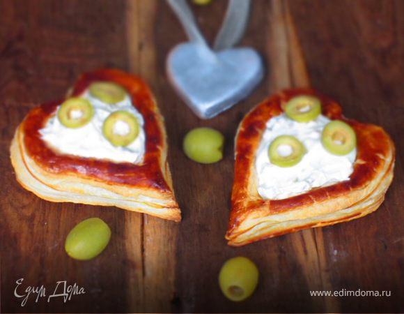 Волованы со сливочным кремом и оливками