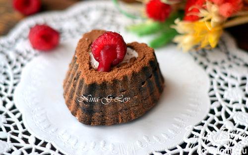 """Рецепт Трюффель-пирожное """"Шоколадное сердце"""" (Truffle-cake """"Chocolate heart"""")"""