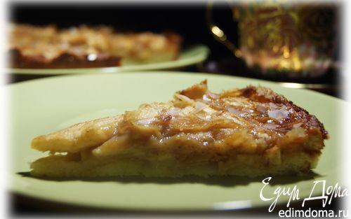 Рецепт Яблочный пирог с медово-лимонной заливкой