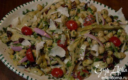 Рецепт Салат из нута, артишоков и помидоров