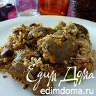 Куриная печень с ароматным рисом