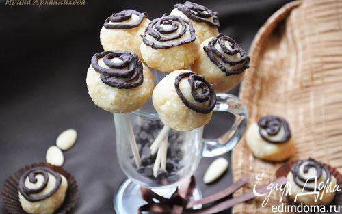 Рецепт Кокосовые конфеты с печеньем и миндалем