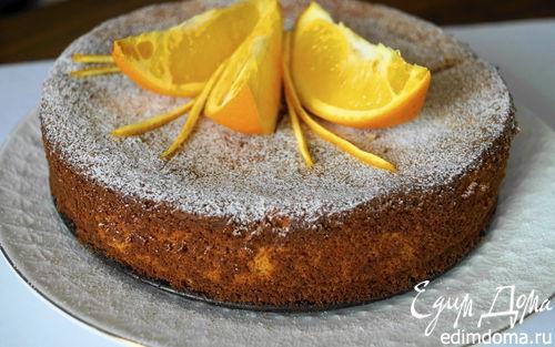 Рецепт Апельсиново-миндальный пирог без муки