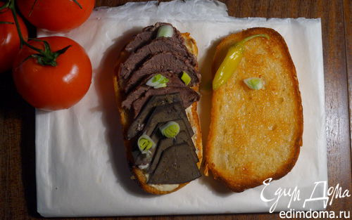 Рецепт Горячий бутерброд с ливером