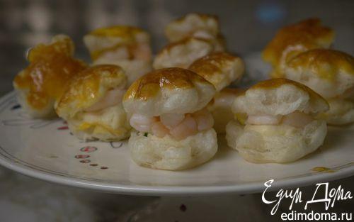 Рецепт Тарталетки с креветками и соусом бешамель
