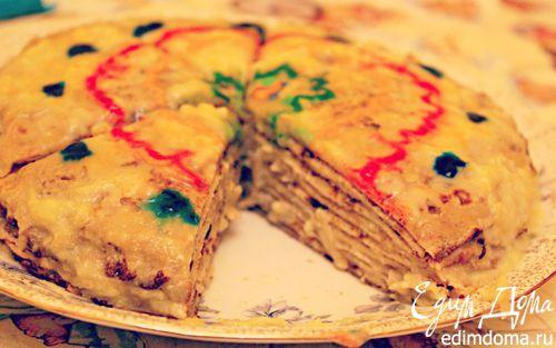 Рецепт Блинный торт с яблочным кремом (Mille Crepes)