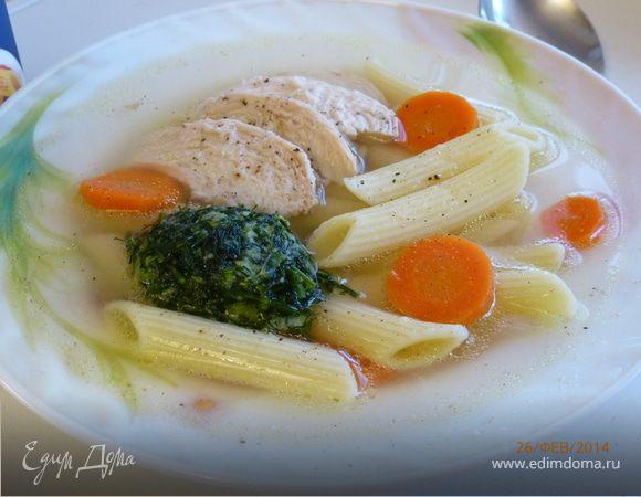 Куриный суп с лапшой на новый лад