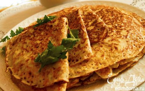 Рецепт Дрожжевые блинчики с сыром