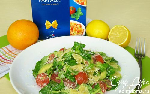 Рецепт Холодный салат с пастой фарфалле и авокадо