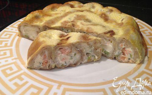 Рецепт Закусочный блинный пирог