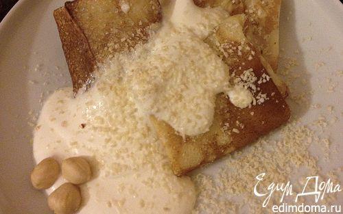 Рецепт Блинчики с творожной начинкой и орехами