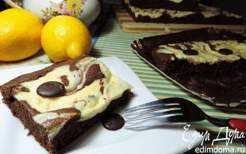 """Рецепт Шоколадный пирог с творогом """"Мраморный"""""""