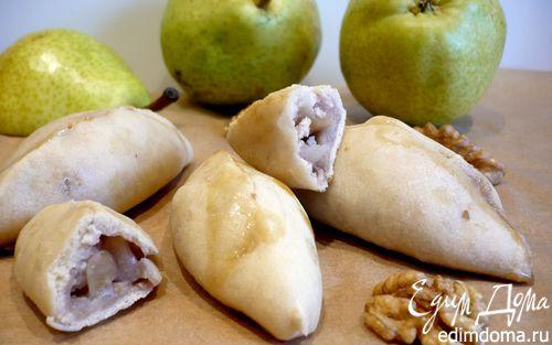 Рецепт Постные пирожки на кокосовом тесте с грушево-ореховой начинкой