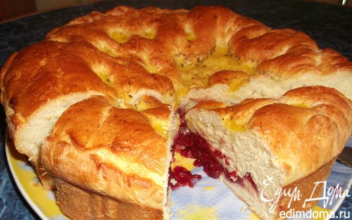 Рецепт Бабушкин пирог с малиновым джемом