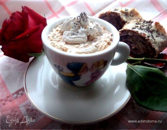 Карамельный кофе под сливочной шапочкой