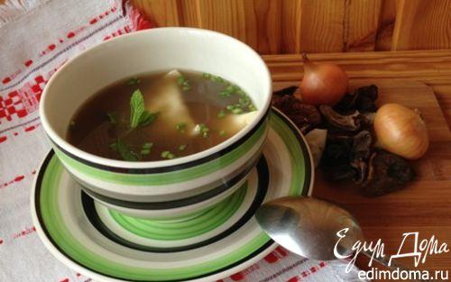 Рецепт Грибной суп с ушками