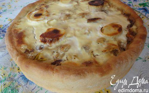 Рецепт Торт с квашеной капустой, шпиком и луком