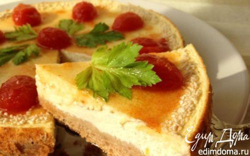 Рецепт Закусочный чизкейк с джемом из помидоров черри