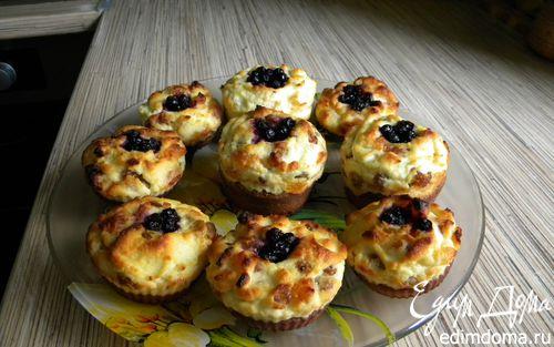 Рецепт Творожно-бисквитные кексы с изюмом