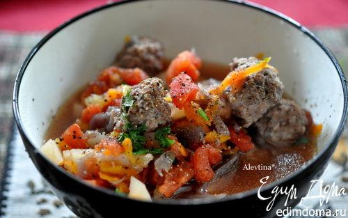 Рецепт Cуп с фрикадельками из говядины
