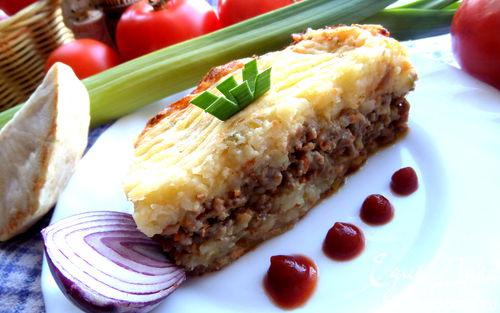 Рецепт Картофельная запеканка с сельдереем и фаршем