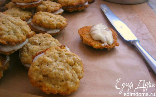 Рецепт Овсяное печенье с ромово-изюмовым кремом