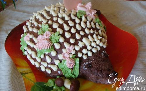 """Рецепт Медово-шоколадный торт """"Ежик"""" с ананасом"""
