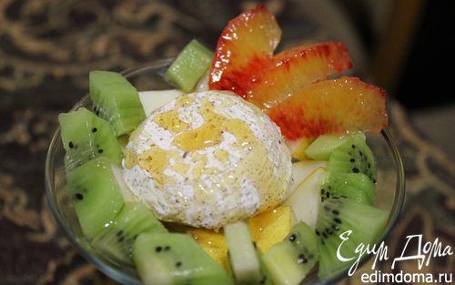 Рецепт Фруктовый салат с мороженым и медом