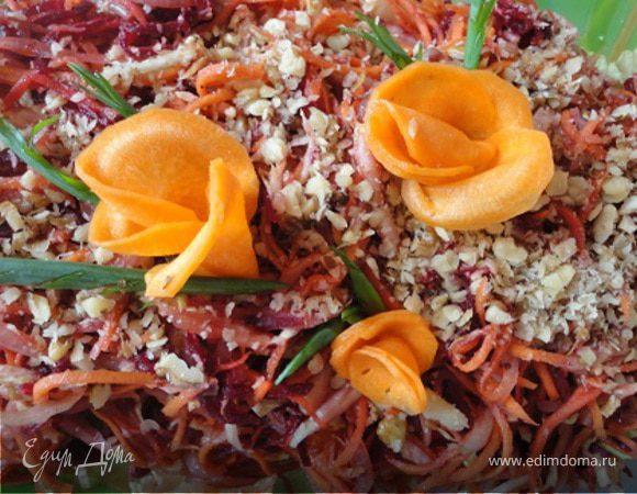 салат сказка рецепт с орехами