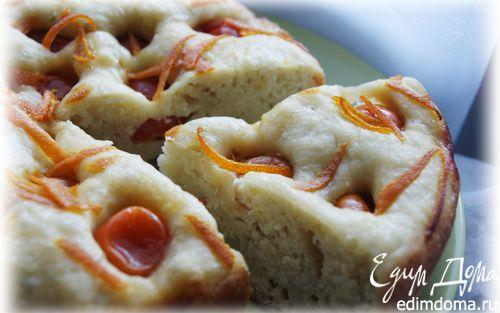 Рецепт Фокачча с помидорами черри и цедрой апельсина в мультиварке