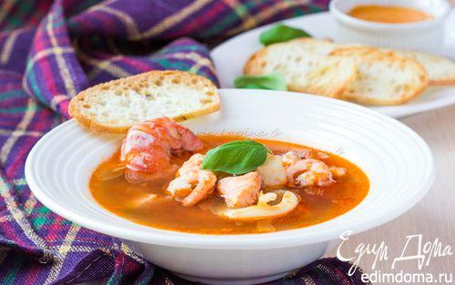 Рецепт Буйабес с соусом руй (французский рыбный суп)