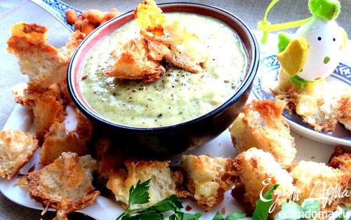Рецепт Французский чесночный суп с сырными гренками