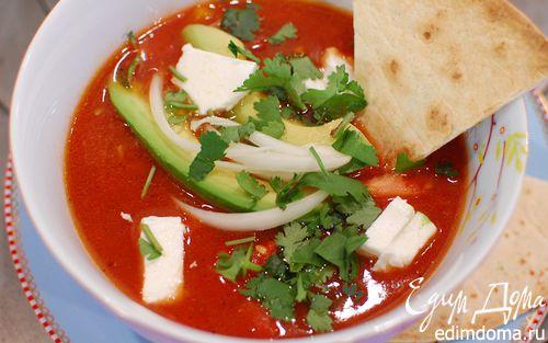 Рецепт Острый фасолевый суп по-мексикански