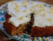 Ореховый пирог с имбирем и сливочным кремом