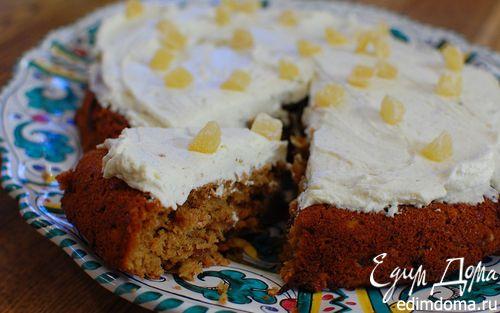 Рецепт Ореховый пирог с имбирем и сливочным кремом