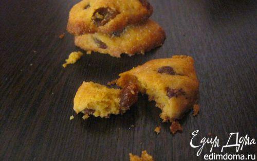 Рецепт Итальянское кукурузное печенье с изюмом и орехами