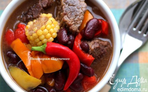 Рецепт Говядина по-мексикански в мультиварке