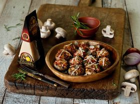 Грибы, запеченные с перцем и миндалем