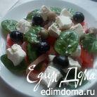 Салат со шпинатом, балыком и шампиньонами