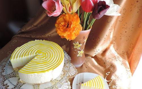 """Рецепт Лимонный торт-десерт """"Полночь в Париже"""""""