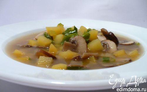 Рецепт Весенний суп с коричневыми шампиньонами и картофелем