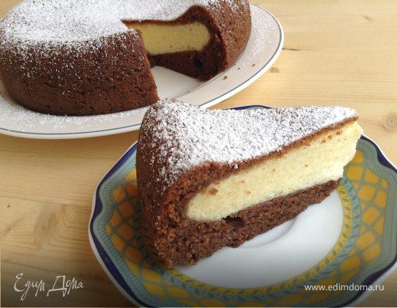 Шоколадно-творожный пирог в мультиварке