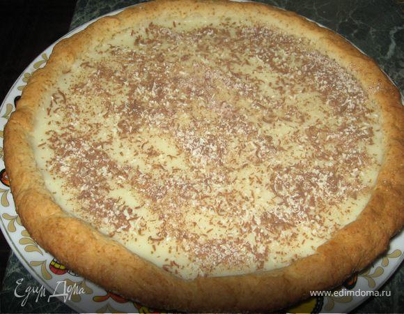 Песочный пирог с заварным кремом