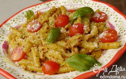 Рецепт Паста с помидорами черри и красным песто